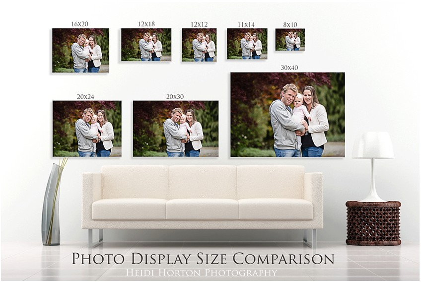 a guide to printing your photos, printing guide, Heidi Horton Photography
