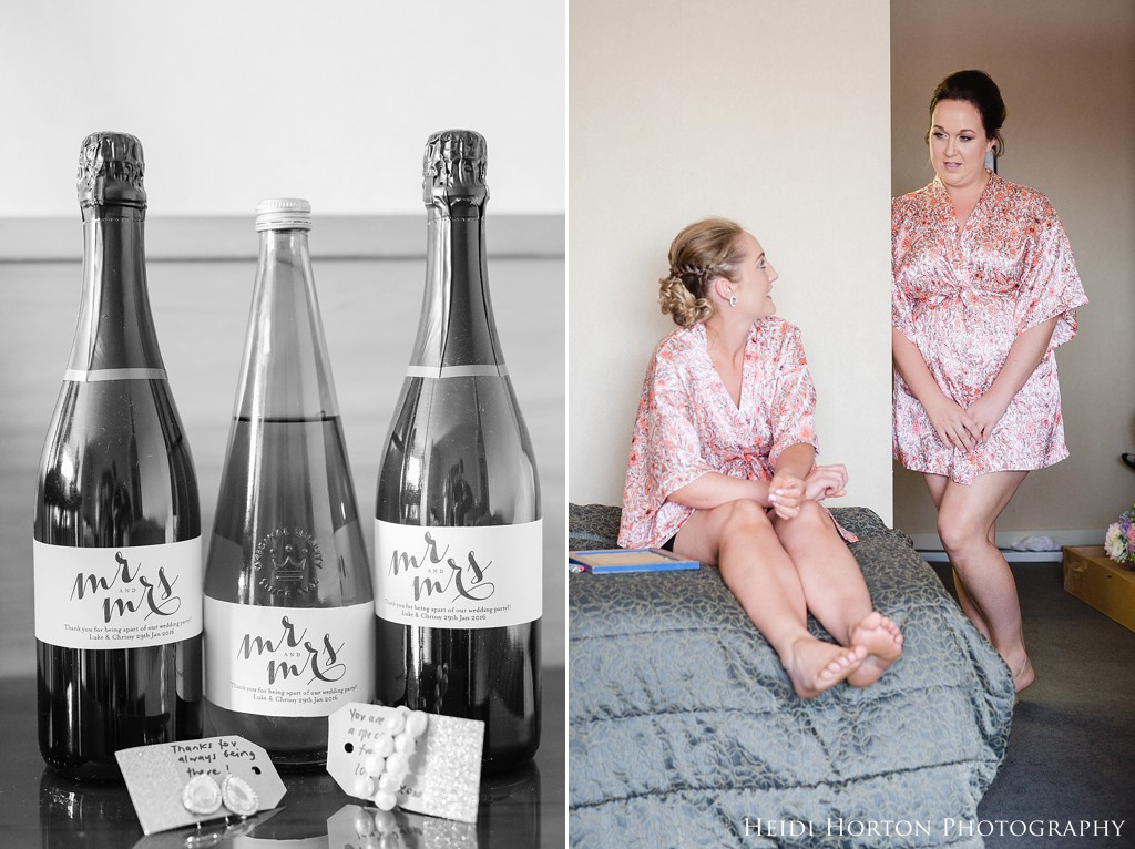 personalised wedding wine bottles, Kelvin Hotel wedding, Argyle Cottage Garden Invercargill wedding, Argyle Cottage Garden, Invercargill wedding venue, garden wedding Southland, Southland wedding photographer, Heidi Horton Photography