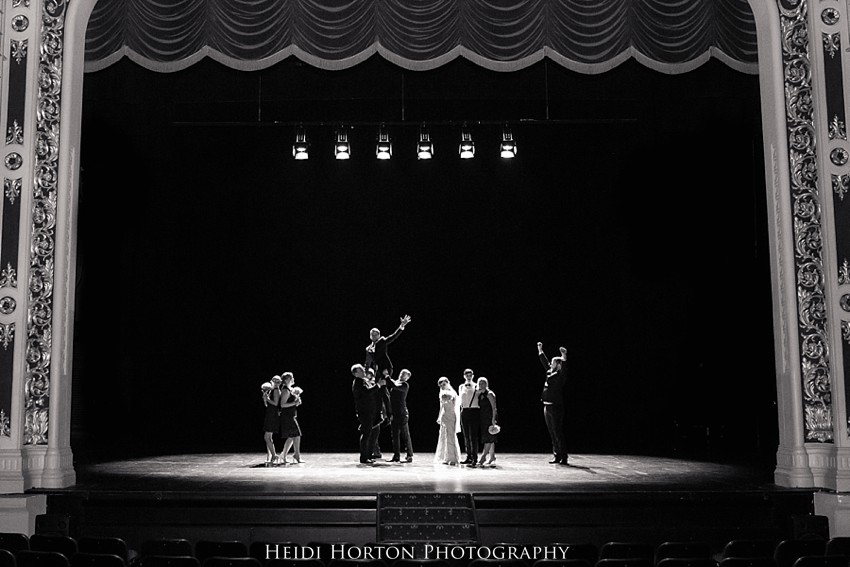 Civic Theatre stage photos wedding, civic theatre invercargill wedding, southland wedding photographer, Heidi Horton Photography