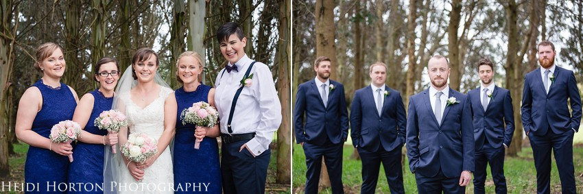 Otatara invercargill wedding photos, fun bridal party photos, timeless wedding photos southland, southland wedding photographer, Heidi Horton Photography