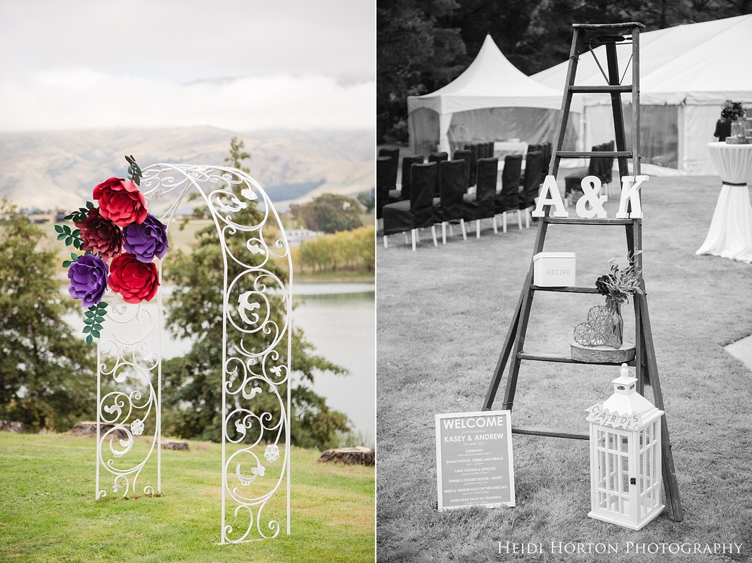 Paper Flowers archway, ceremony wedding details, Autumn Central Otago wedding, Cromwell Central Otago wedding, Bannockburn Cromwell wedding, Cromwell wedding photographer, Central Otago wedding photographers, Heidi Horton Photography