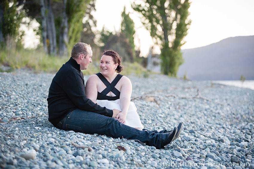 te anau engagement photos, te anau wedding photographer, engagement portraits lakeside, fun engagement photos, Heidi Horton Photography