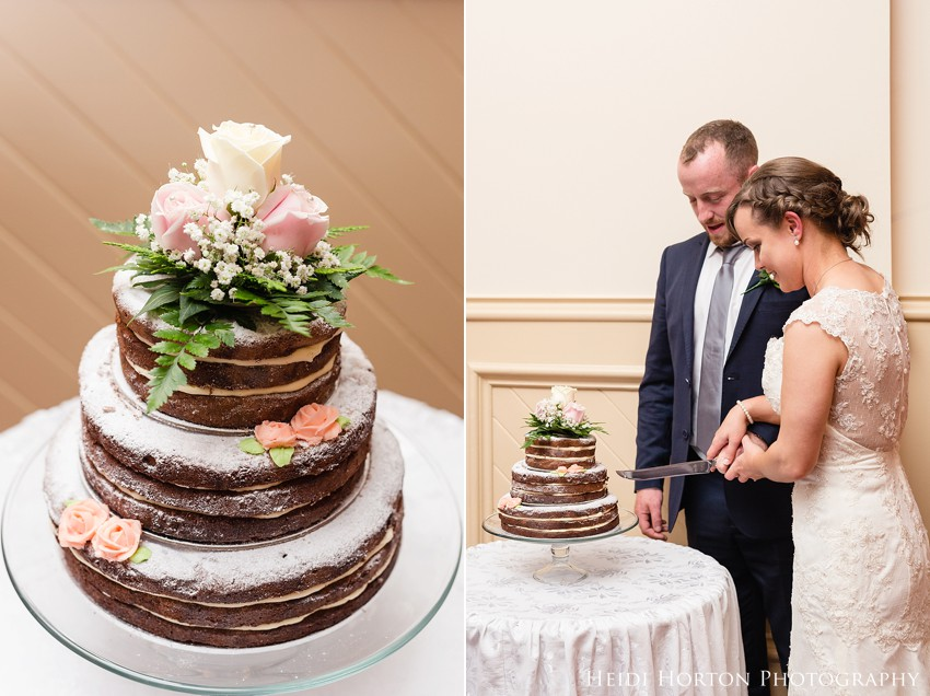 purple strawberry wedding cake, civic theatre invercargill wedding, southland wedding photographer, Heidi Horton Photography