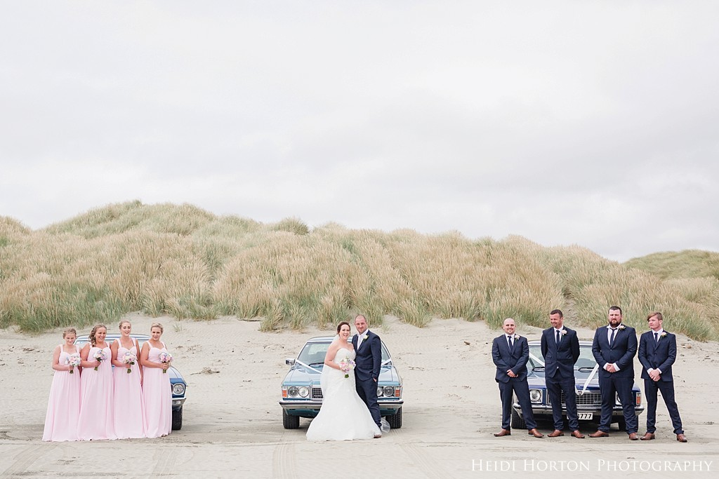 Oreti beach photos, beach wedding invercargill, wedding cars photos invercargill, bridal portraits invercargill, invercargill wedding venues, Kelvin Hotel Invercargill wedding, Argyle Cottage Garden wedding, fun natural wedding photos invercargill, Heidi Horton Photography