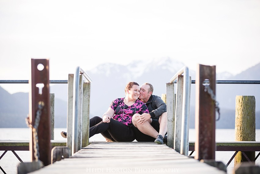 te anau engagement photos, te anau wedding photographer, engagement portraits lakeside, Heidi Horton Photography