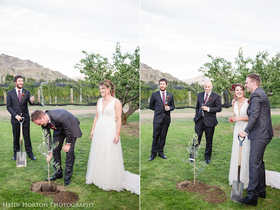 tree planting wedding ceremony, Autumn Central Otago wedding, Cromwell Central Otago wedding, Bannockburn Cromwell wedding, Cromwell wedding photographer, Central Otago wedding photographers, Heidi Horton Photography