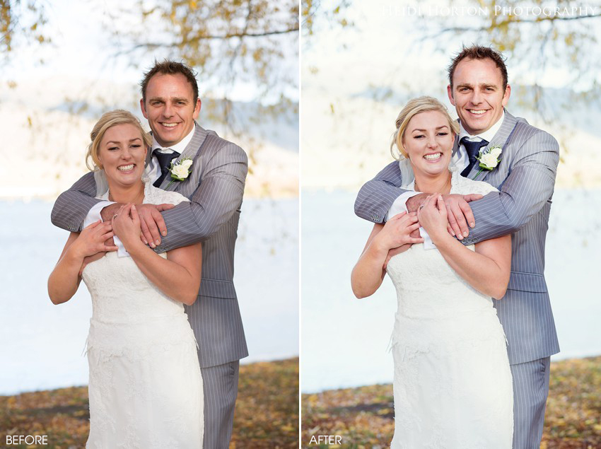 before & after photos editing, southland wedding photographer, te anau wedding photographer, cromwell wedding photographer, Heidi Horton Photography