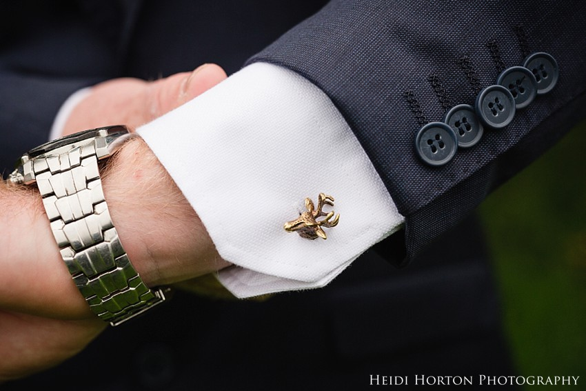 hallenstein brothers deer cufflinks, second shooter wedding southland, wedding photos southland, Heidi Horton Photography
