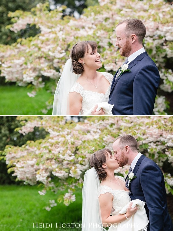 Otatara invercargill wedding photos, fun bridal party photos, blossom tree wedding photos, first look wedding southland, Heidi Horton Photography