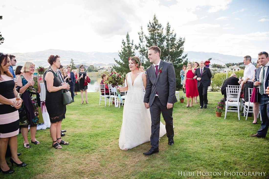 recessional ceremony photos, Autumn Central Otago wedding, Cromwell Central Otago wedding, Bannockburn Cromwell wedding, Cromwell wedding photographer, Central Otago wedding photographers, Heidi Horton Photography