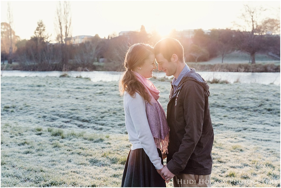 lifestyle engagement session, portraits at sunrise - sunrise sessions - southland photographer - Heidi Horton Photography
