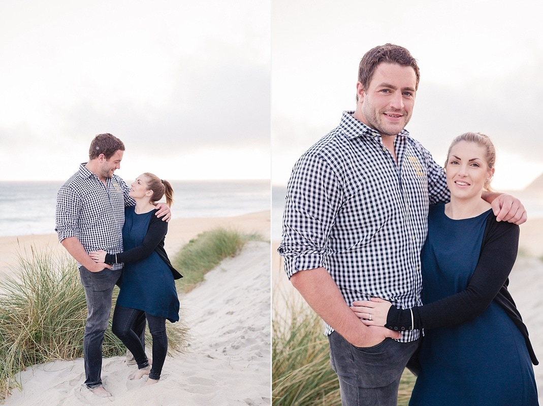St Kilda Beach Dunedin sunset engagement photography, Dunedin professional photographer, Otago wedding photographer, St Kilda Beach surf club, St Kilda Beach Dunedin wedding photographer, sunset engagement session, Heidi Horton Photography