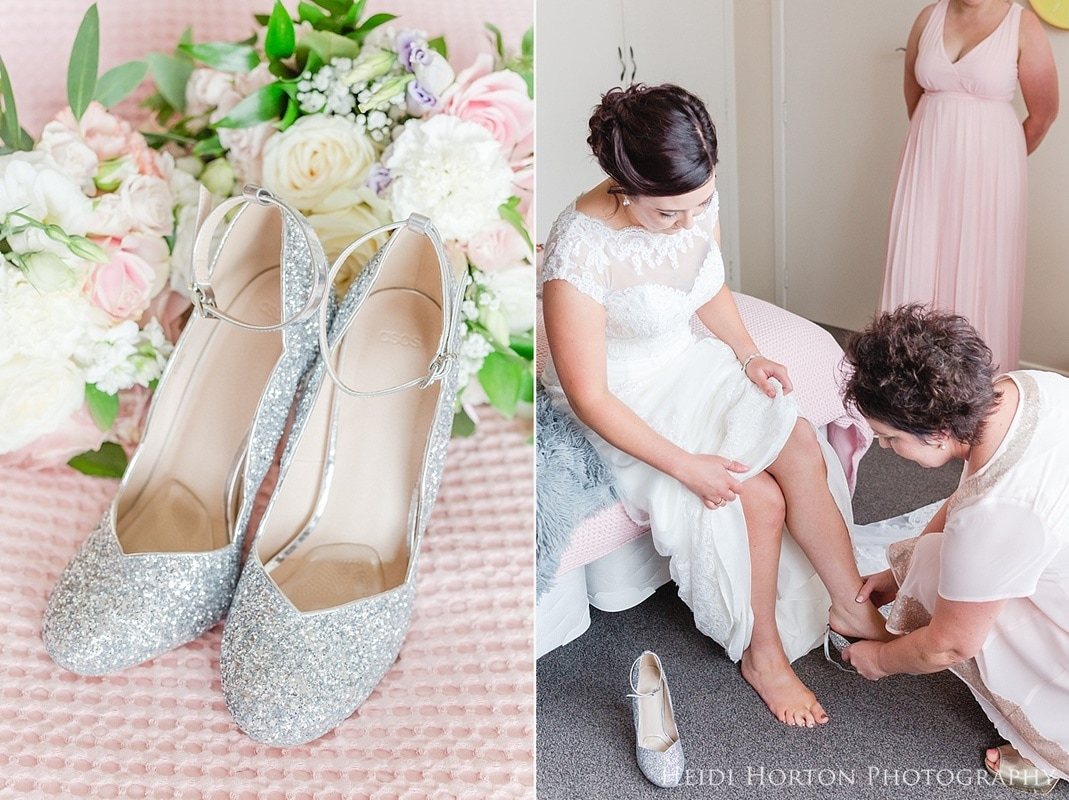 sparkly wedding shoes, Southland wedding photographer, Wedding Photographers Southland, Gore Wedding Photographer, Invercargill wedding photographer, Croydon Lodge wedding, Heartland Hotel Croydon Lodge Gore, Gore wedding photos, Southland wedding photos, Lily Jacksons wedding flowers, florist in Gore, blush wedding colours, Brides by Donna Rae wedding dress, wedding photographer in southland with second shooter, Southland professional wedding photographer, timeless fun beautiful wedding photos, Heidi Horton Photography