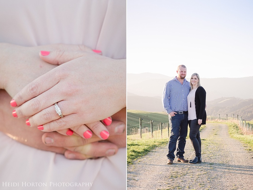 sunset engagement session, Lilburn Valley farm, engagement session Southland, Southland wedding photographer that travels, Southland weddings, Invercargill wedding photographer, Heidi Horton Photography