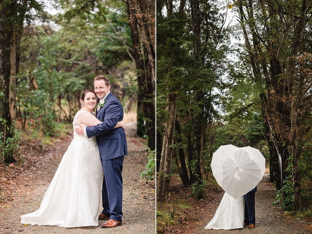 heart-shaped umbrella, Te Anau Wedding photos, Te Anau Distinction Lakefront wedding, Te Anau Glass chapel wedding, Te Anau wedding photographer, Fiordland photographer, Southland Wedding Photographers, autumn new zealand wedding, timeless fun beautiful wedding photos, Heidi Horton Photography
