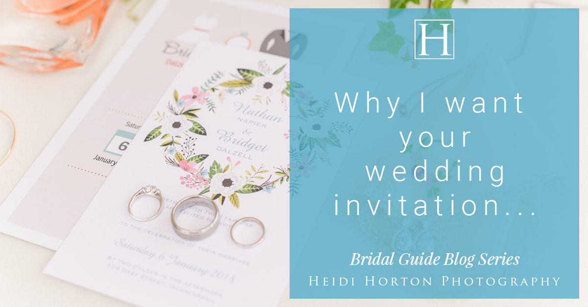 Heidi Horton Photography, photographing your wedding invitation